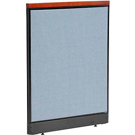 """Deluxe Non-Electric Office Partition Panel with Raceway, 36-1/4""""W x 47-1/2""""H, Blue"""