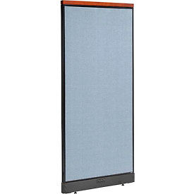 """Deluxe Electric Office Partition Panel, 36-1/4""""W x 77-1/2""""H, Blue"""