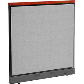 """Deluxe Office Partition Panel with Raceway, 48-1/4""""W x 47-1/2""""H, Gray"""