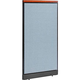 """Deluxe Office Partition Panel with Raceway, 36-1/4""""W x 65-1/2""""H, Blue"""