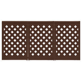Grosfillex Portable Resin Outdoor Patio Fence, 3-Panel Section - Brown