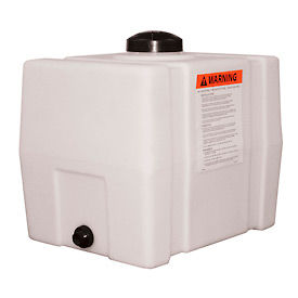 RomoTech 30 Gallon Plastic Storage Tank 82123909 - Square End with Flat Bottom