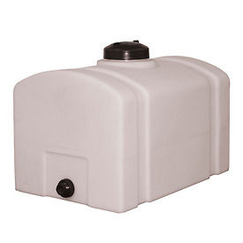 RomoTech 26 Gallon Plastic Storage Tank 82123899 - Domed with Flat Bottom