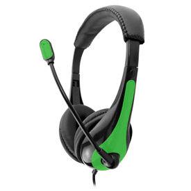 Single Plug Headset with Microphone, Green