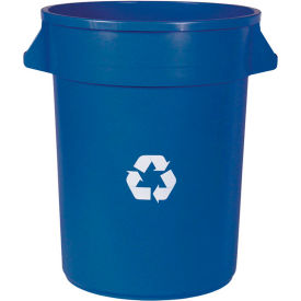 Impact® Gator® Container - 32 Gallon, Blue W/ Recycle Logo, 7732-11R