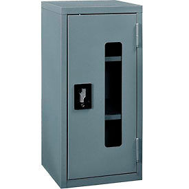 """Global™ Clear View Wall Storage Cabinet Assembled 13-3/4""""W x 12-3/4""""D x 30""""H Gray"""