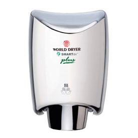 World Dryer® SMARTdri Plus Aluminum 120V Hand Dryer - Polished Chrome - K-970P2