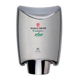 World Dryer® SMARTdri Plus Stainless Steel 120V Hand Dryer - Brushed - K-973P2