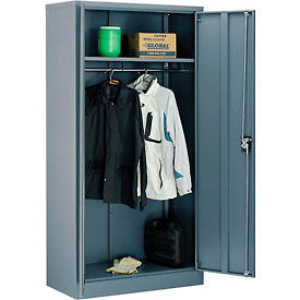Global™ Wardrobe Cabinet Easy Assembly 36x18x72 Gray