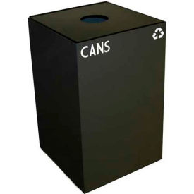 Steel Recycling Container with Bottle & Can Opening - 24 Gallon Cap. Charcoal
