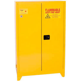 Eagle Paint/Ink Tower Safety Cabinet with Manual Close - 60 Gallon Yellow