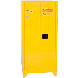 Eagle Paint/Ink Tower Safety Cabinet with Manual Close - 96 Gallon Yellow