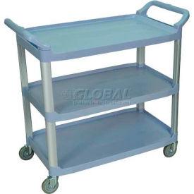 trucks carts carts plastic shelf luxor sc13g gray 3. Black Bedroom Furniture Sets. Home Design Ideas