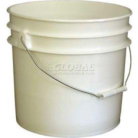 Vestil 3.5 Gallon Open Head Plastic Pail PAIL-35-PWS with Steel Handle - White