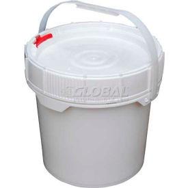 Vestil 3.5 Gallon Screw-Top Plastic Pail & Lid PAIL-SCR-35-W - White