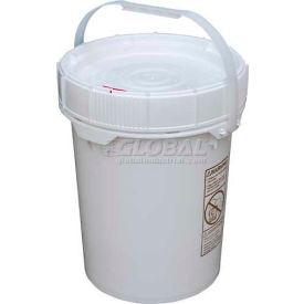Vestil 5 Gallon Screw-Top Plastic Pail & Lid PAIL-SCR-5-W - White