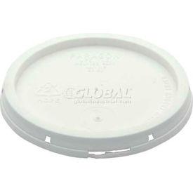 Vestil Tear-Tab Lid LID-1-PWT for 1 Gallon Open Head Plastic Pails - White