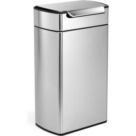 simplehuman® Rectangular Touch-Bar Can - 10-1/2 Gallon Brushed SS
