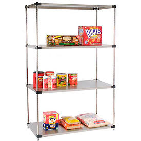 wire shelving stainless steel 48x18x86 stainless steel. Black Bedroom Furniture Sets. Home Design Ideas