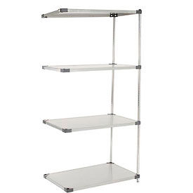 48X18X86 Stainless Steel Solid Shelving Add-On