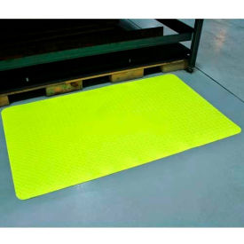 "Diamond-Dek Sponge Anti-Fatigue Mat 24""x36"" High Visibility Yellow"