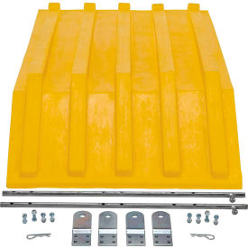 Yellow Plastic Lid PLID-H-50-YL for Vestil Triple-Bin Recycling Hopper-Sold Each