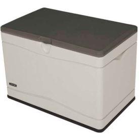 Lifetime 60103 Outdoor Deck Storage Box 80 Gallon, Tan w/Brown Lid