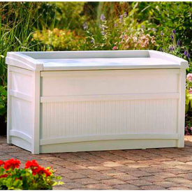 Suncast DB5500 Deck Box with Seat Light 50 Gallon Taupe