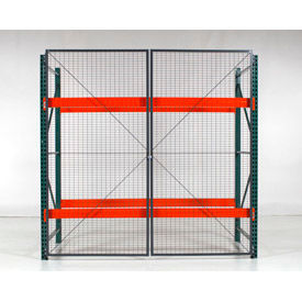 "Wirecrafters - RackBack® Wire Mesh Pallet Rack Enclosure - Back Panel 96""W x 48"""