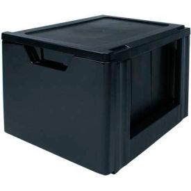 "IRIS Premier Stacking File Drawer, 19-5/8""X15-3/8""X13-3/8"", Black - Pkg Qty 2"