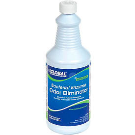 Global Industrial™ Bacterial Enzyme Odor Eliminator - Case Of Six 1 Quart Bottles