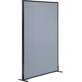 """Freestanding Office Partition Panel, 36-1/4""""W x 60""""H, Blue"""