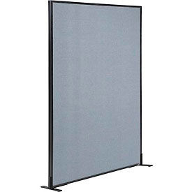 """Freestanding Office Partition Panel, 48-1/4""""W x 72""""H, Blue"""