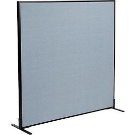 "Freestanding Office Partition Panel, 60-1/4""W x 60""H, Blue"