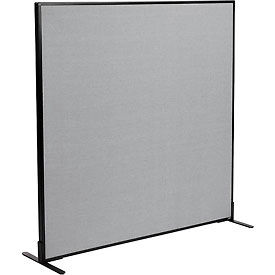 "Freestanding Office Partition Panel, 60-1/4""W x 60""H, Gray"