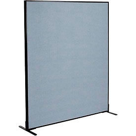 "Freestanding Office Partition Panel, 60-1/4""W x 72""H, Blue"