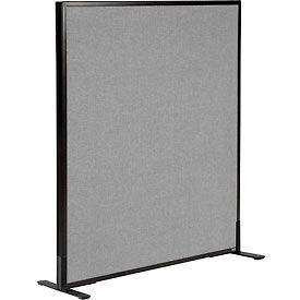 """Freestanding Office Partition Panel, 36-1/4""""W x 42""""H, Gray"""