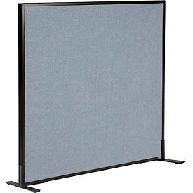 "Freestanding Office Partition Panel, 48-1/4""W x 42""H, Blue"