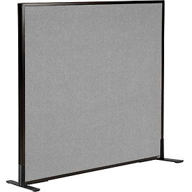 """Freestanding Office Partition Panel, 48-1/4""""W x 42""""H, Gray"""