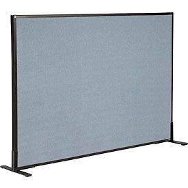 "Freestanding Office Partition Panel, 60-1/4""W x 42""H, Blue"