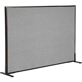 "Freestanding Office Partition Panel, 60-1/4""W x 42""H, Gray"