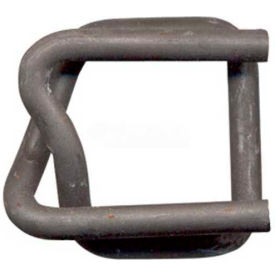 """Phosphate Coated Strapping Buckles for 3/4"""" Woven Cord Strapping, 1000 Pack"""