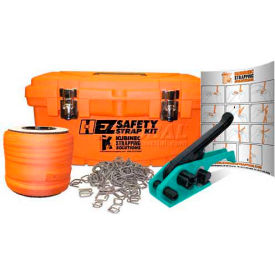 """Polyester Strapping Kit With 3/4"""" x 250' Coil, Ratchet Tool, Buckles & Case"""