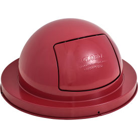 Steel Dome Top for Mesh Trash Container - Red