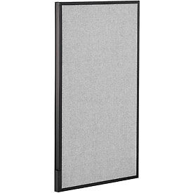 """Office Partition Panel, 24-1/4""""W x 42""""H, Gray"""