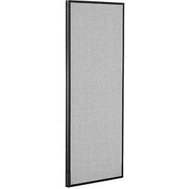 "Office Partition Panel, 24-1/4""W x 60""H, Gray"