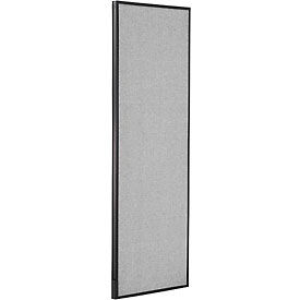 """Office Partition Panel, 24-1/4""""W x 72""""H, Gray"""
