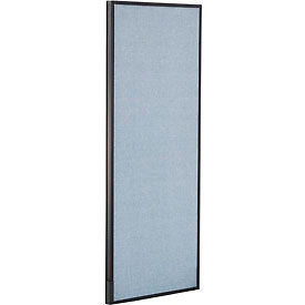 "Office Partition Panel, 24-1/4""W x 60""H, Blue"