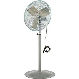 TPI IHP24P, 24 Inch Pedestal Fan Non Oscillating 1/3 HP 4300 CFM 1 PH Totally Enclosed Motor