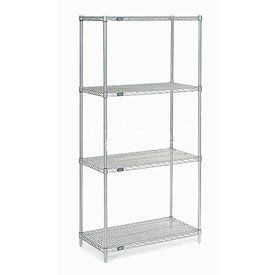 "Nexel Stainless Steel Wire Shelving 48""W X 18""D X 86""H by"